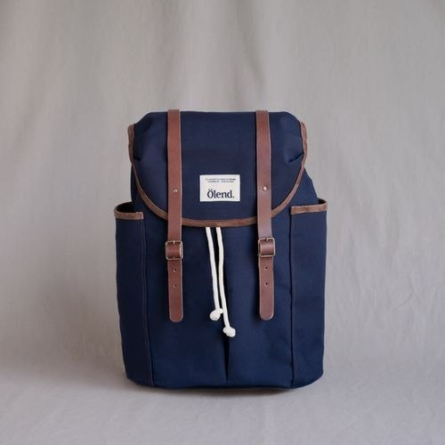 [100% handmade in Spain] Ölend Sienna Fabric| Leather |Laptop bag (Navy)