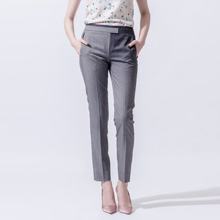 Female gradient printing narrow suit pants Gradient Printed Skinny Trousers