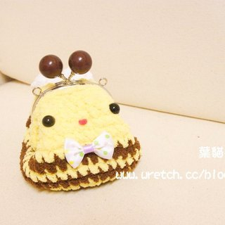 [Leaf cat son. Hand-made crochet doll] finished - Bee mouth gold package