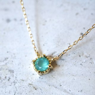 Solitaire necklace (K18YG)