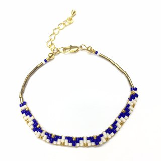 ololssim blue triangle ethnic Bracelet