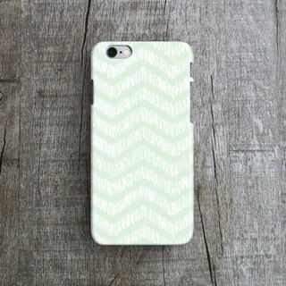 Tiffany Blue, Handdrawn ZigZag - Designer iPhone Case. Pattern iPhone Case.