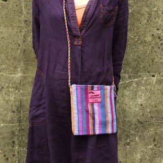 【Grooving the beats】Handmade Hand Woven Side Bag / Cross Body Bag(Purple)