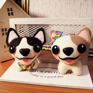Skillful cat x city cat Chihuahua pure hand-sewn custom name puppet hanging ornaments / key ring