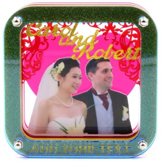 Customized perspective Puzzles Frame - We got married personalized theme x