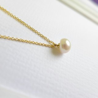 [NU Studio] Playful Natural Pearl Necklace Choker