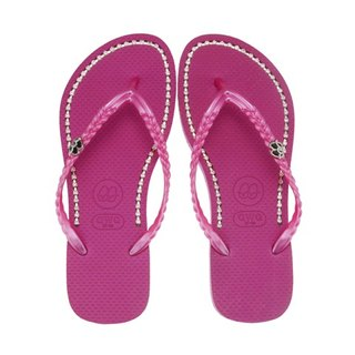 QWQ Creative Design Flip-Flops - Pretty Face Powder - Pretty Pink [BB0021502]