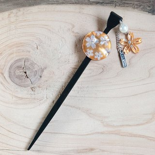 Sakura carve Hairpin-Orange