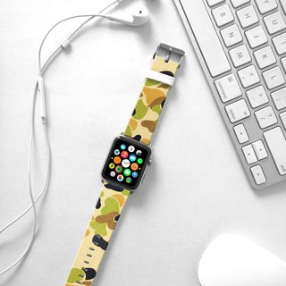 Apple Watch Series 1 , Series 2, Series 3 - Yellow Camouflage Pattern Watch Strap Band for Apple Watch / Apple Watch Sport - 38 mm / 42 mm avilable