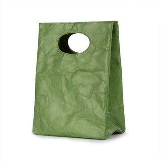 Tyvek paper fibers [patent] readily graffiti waterproof Dual Bag - olive green