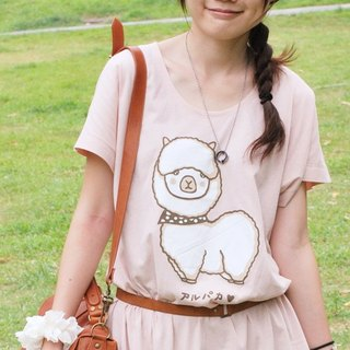 *Mori Shu*Alpaca Tears Dress Dress Long T (Pink)