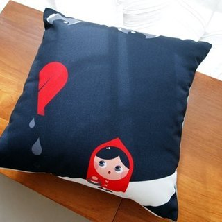Little Red Riding Hood and the Big Bad Wolf pillow