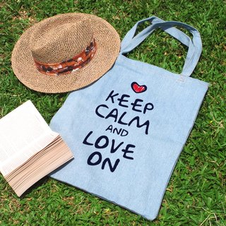 Keep Calm And Love On tannic shoulder bag