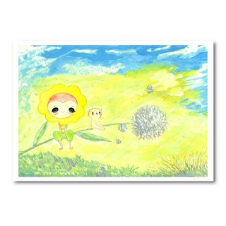Flapping in the wind of hope ~ Dandelion postcards / Universal Card