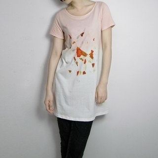 I. A. N Design deer madder gradient dyed organic cotton long short-sleeved T Organic Cotton S / M