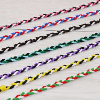 噗妃 - - pure hand-woven lucky bracelet surf foot ring foot rope L (cotton)