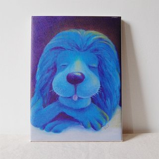Smile series - Blue lion replica painting