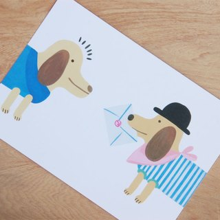 Chienchien - Want to tell you illustration postcard/card