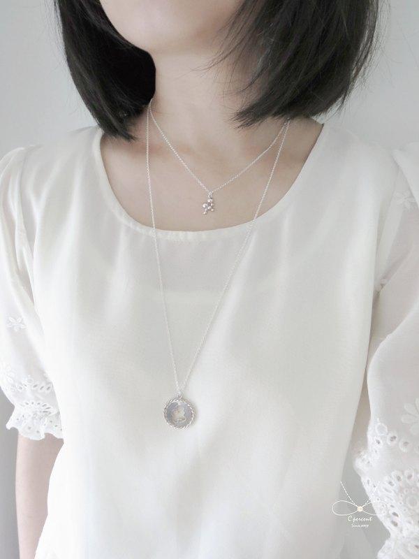 泡泡 - 美人魚公主系列 (純銀項鍊 情人節禮物) ::C%手工飾品::