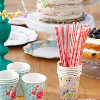 """Wonderful taste § straw"" Britain Talking Tables Party Supplies"