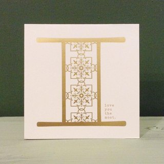Bronzing letter card envelope sticker set -I