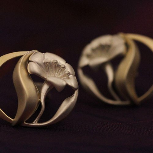 [All Seasons] Carefree Love / Original jewelry / wedding commemorative / silver cufflinks