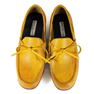 Toadflax M1122 Paintbrush Gold  leather loafers