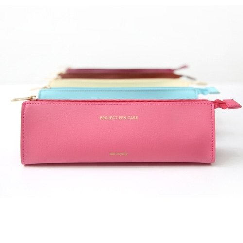Dessin x Monopoly- classic macarons leather pencil case - pink, MPL29775HP