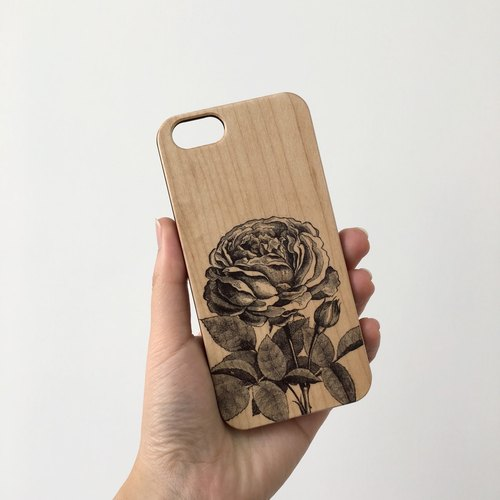 Rose Real Wood iPhone Case for iPhone 6/6S, iPhone 6/6S Plus