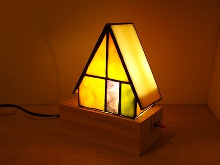 Warm mosaic glass table lamps / Stained Glass / nightlights