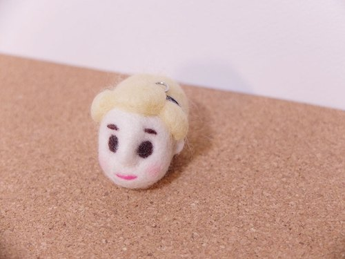 Who is Marie? 100% handmade needle felt wool doll keychain.
