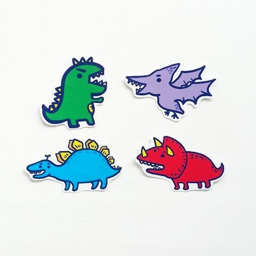 1212 fun design waterproof stickers funny stickers everywhere - Jurassic Park combination
