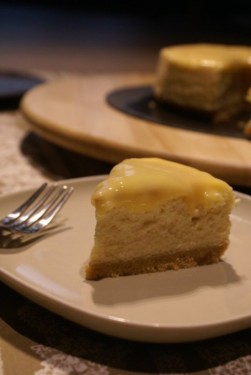 [Cheese & Chocolate.] American heavy cheesecake Zuo hand sour yellow lemon curd / 6 ""