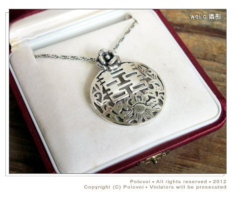 [Wei'C] * China Tim Flowers Tim Well End Series * Happiness ornaments / metalworking .silver design /