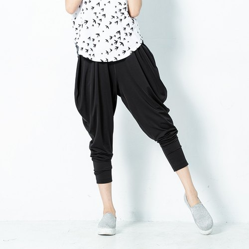 A sense of cool breeze Slim female flying squirrel pants - black