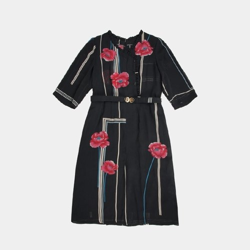│moderato│ personalized black geometric lines vintage dress flowers Slightly │ │ Japanese girl. Individuality girlfriend .VINTAGE. Cute