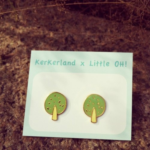 ☉ trees Handmade earrings