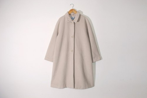{::: Giraffe giraffe who :::} _ SWALLOW COAT milk soft wool yellow vintage wool coat