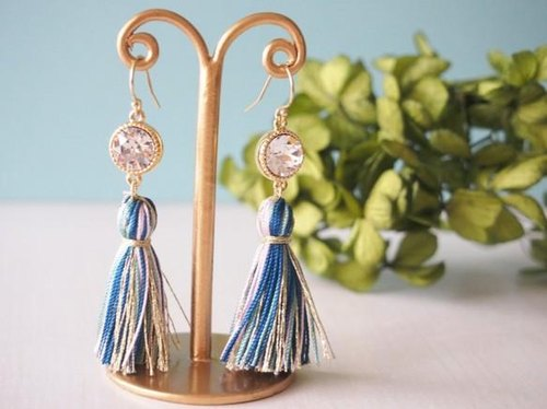 [14kgf] Tassel Earrings (Gold)