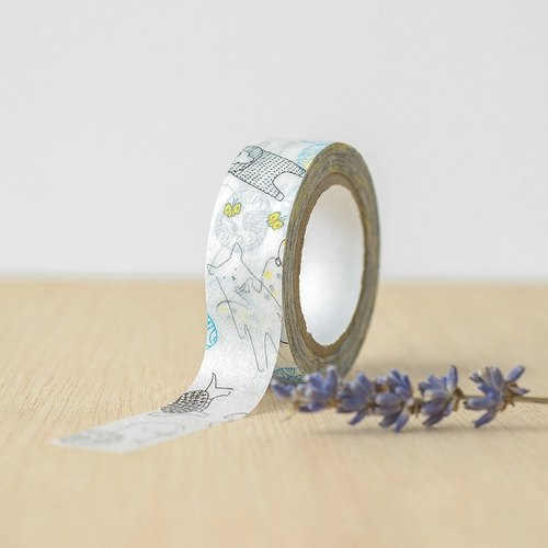 ● Blue ● animals paper tape Kurashiki artistic conception of paper tape -29926-01