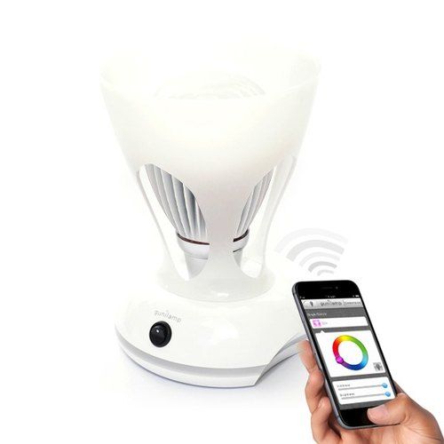 [EN5006] free shipping, gunilam phone APP controls the brightness of the color freedom 7w led bulb