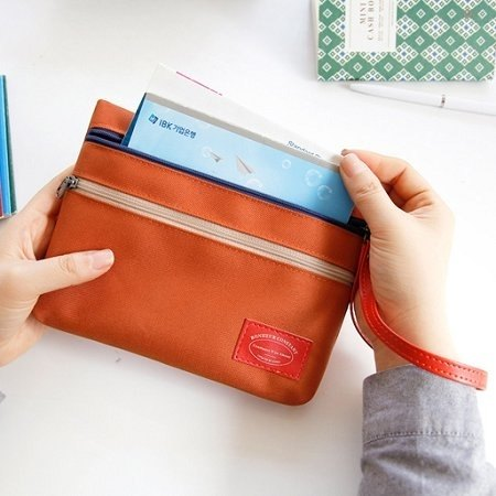 Dessin x Iconic- Macaron passbook universal admission package (with strap) - Classic Orange, ICO81043