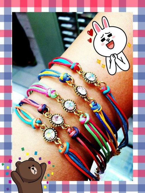 ~ M + Bear - summer folk style fine color bracelet