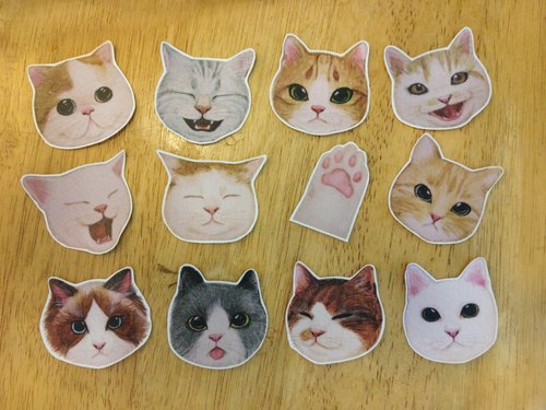 Cat girl living hand-painted watercolor matte transparent stickers series (large)