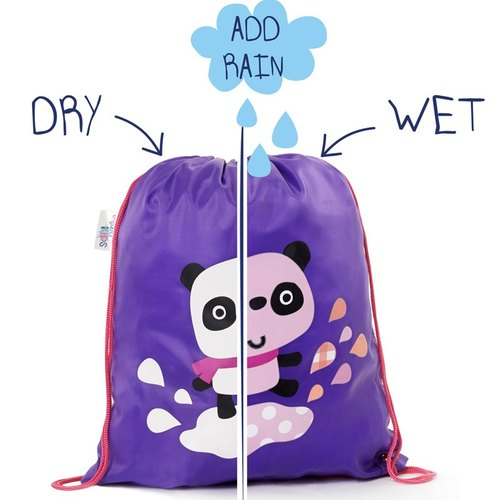 Squid Kids [London] Happy rain Happy color series color backpack - red panda