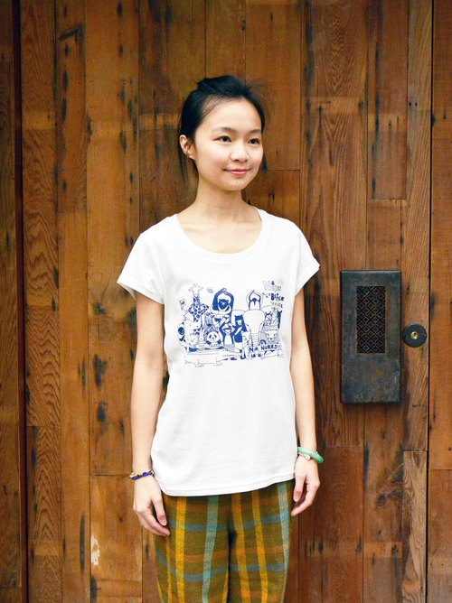 Organic cotton T-shirt female version Organic T-shirt NO NUKES_ fair trade