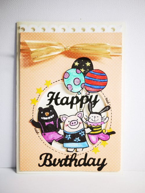[Yu-crafts handmade cards] birthday card celebration _