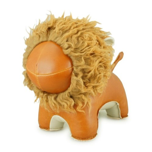 Zuny- Lion Statue Baishi bookends (Abo- brown curly)