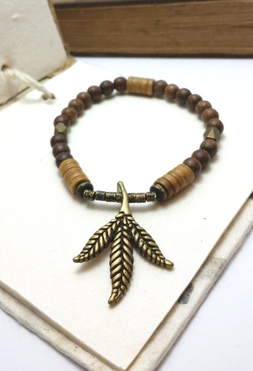 ◎ Maple copper bracelet beads fall Agarwood