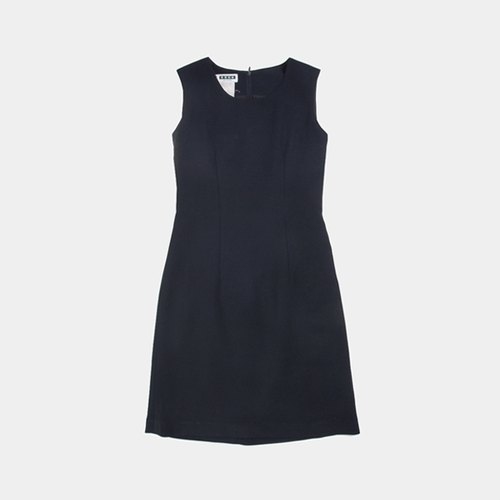 │moderato│ Hepburn retro elegance girl neat cut sleeveless vintage dress / air girl. Girlfriend